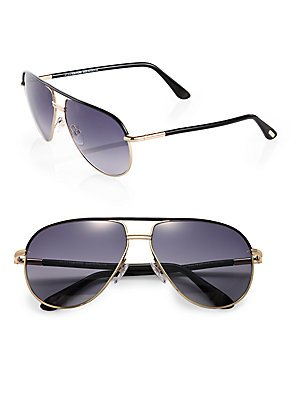 Tom Ford FT 0285/S Cole Sunglasses 01B Shiny Gold Black/Grey Gradient Smoke 61 - Sunglasses S Men Aviator