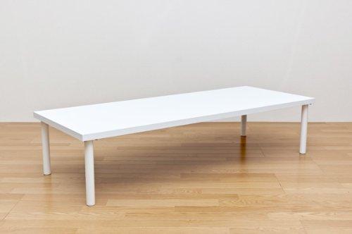 フリーローテーブル 150幅 奥行き60 ホワイト B00RDYWWPM