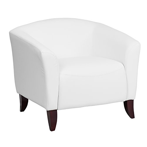 Flash Furniture HERCULES Imperial Series White Leather Chair by Flash Furniture