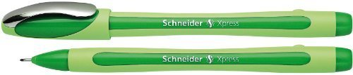 Schneider Xpress Fineliner 0.8mm Porous Point Pen, Green, Box of 10 Pens (190004) by Schneider by Schneider (Image #1)