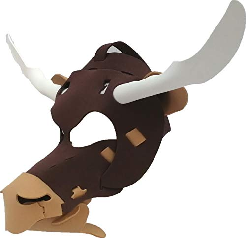 Bull Mask - Light, Comfortable, and Adjustable to any Size - Brown ()