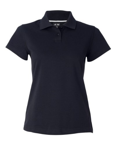Adidas Polo Pique Climalite - adidas A85 Ladies ClimaLite Tour Pique Polo - Black & White, Large
