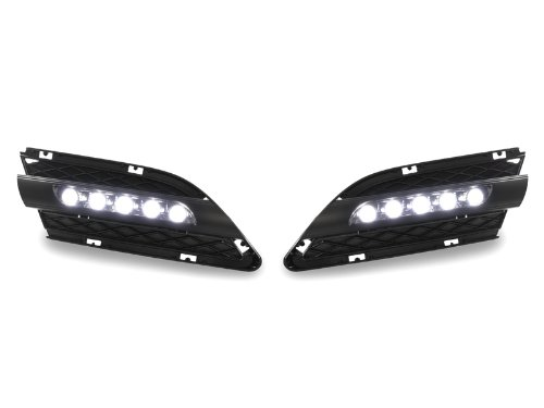 3 Led 4d Series (2009-2011 BMW E90/E91 4D 3-Series Bumper LED Daytime Running DRL Fog Light Trim)