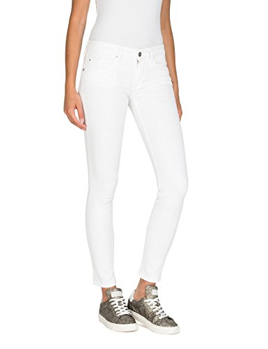 Jeans 1 Donna Replay Back Bianco Luz white Zip Skinny ggTvtq