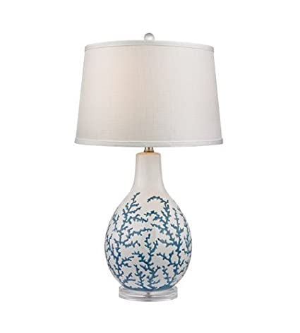 Table Lamps 1 Light With Pale Blue White Ceramic Acrylic Medium Base