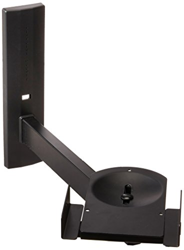 Pinpoint Mounts AM41L-BLACK Speaker Bracket Side Clamping Bookshelf Speaker Wall Mount, Black by Pinpoint Mounts