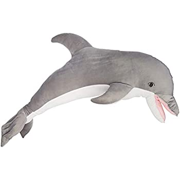 b79b295424a135 Melissa & Doug Giant Dolphin - Lifelike Stuffed Animal (nearly 4 feet long)