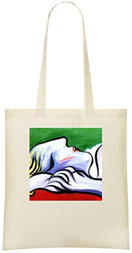 Handbag For Asleep Asleep Stylish Friendly Everyday Tote Eco amp; Picasso Bags 100 Soft Grocery Custom Painting Peinture Shoulder Picasso Custom Cotton Bag Printed Use UqT6rqEx
