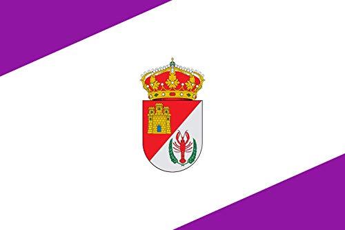 magflags-large-flag-villorejo-rectangular-de-proporciones-2-3-con-dos-franjas-triangulares-esquinadas-de-color-morado-la-superior-del-asta-y-la-inferior-del-batiente-landscape-flag-135msu