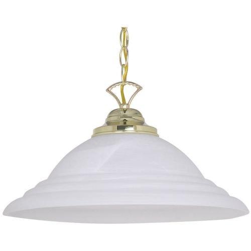 1 Light Inverted Pendant Finish: Polished Brass -