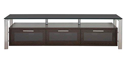 (Plateau Decor 71 (E)-S-BG Wood and Glass TV Stand, Espresso)