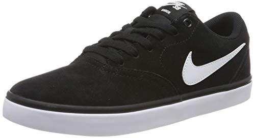 Nike Sb Check Solar Black/White Low Top Canvas Skateboarding Shoe - 11.5M 10M