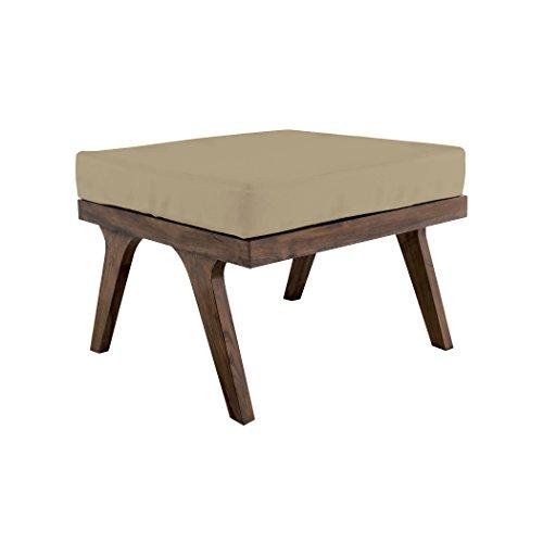 Square Teak Cabinet (Guildmaster 2317009CO Teak Cream Outdoor Ottoman Cushion, Square)