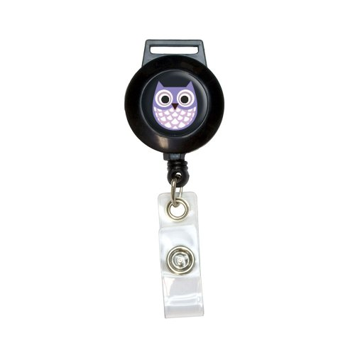Purple Lanyard Retractable Badge Holder