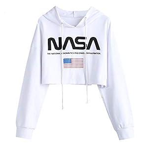 Logo Print Sweatshirt Crop Pullover