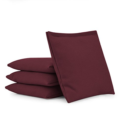 Cornhole Bags (Set of 4):: Choose Your Colors (Maroon)