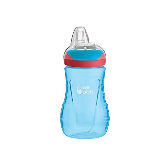 Beebaby Soft Silicone Spout Sippy/Sipper Cup for Baby/Toddlers 250Ml/9Oz. (9M+, Blue)