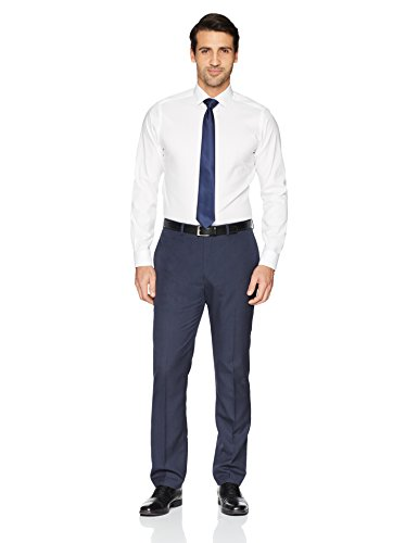 BUTTONED DOWN Men's Fit Spread-Collar Solid Dress Shirt
