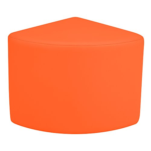 Sprogs SPG-1036OR-A  Vinyl Soft Seating 12'' Pie Shaped Stool, Orange by Sprogs