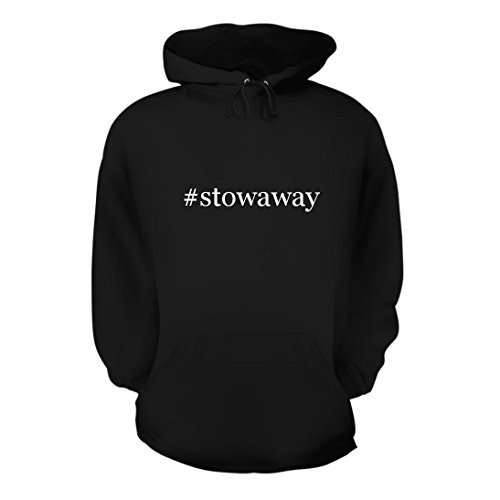 (Shirt Me Up #Stowaway - A Nice Hashtag Men's Hoodie Hooded Sweatshirt, Black, Large)