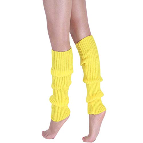 Women Casual Crochet Knitted Stocking Byyong, Leg Warmers Boot Cover Button Trim ()