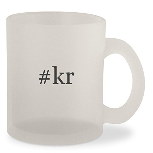 #kr - Hashtag Frosted 10oz Glass Coffee Cup Mug