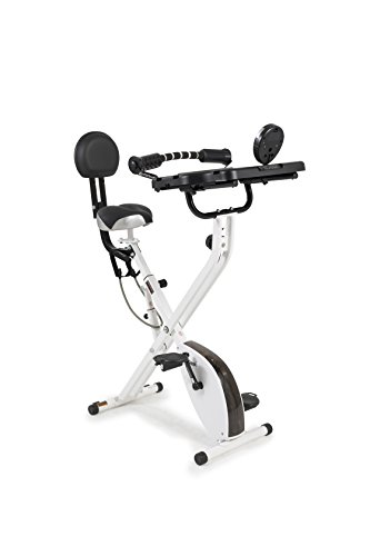 FitDesk 3.0 Desk Exercise Bike with Massage Bar, White
