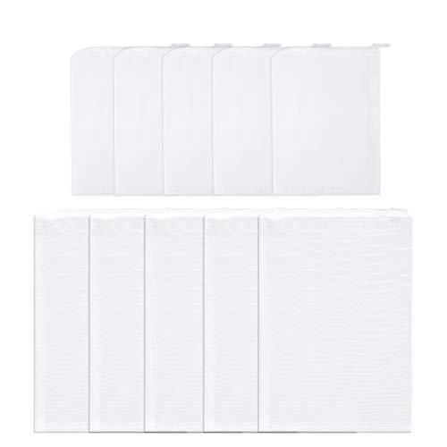 Syihaos 10pcs 2 Sizes Media Filter Bags Reusable Fine Mesh Drawstring ()