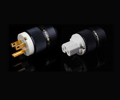 + SE-GC Gold Plated US Power Plug /& IEC 1 set B B SONARQUEST SE-GP