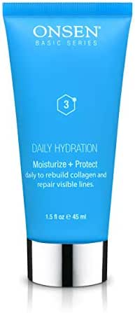 Face Moisturizer – Anti Aging Cream, All Natural Skin Moisturizing Lotion, Organic Daily Hydration, Day and Night Cream for Women, Anti Wrinkle Collagen Facial Moisturizer, 1.5 fl oz/45 ml by Onsen