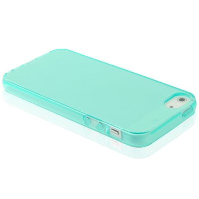 "iPhone 5 / 5S Premium Hülle / Case / Cover aus Silikon in hellblau im ""Clean-Transparent-Style"" -Original nur von THESMARTGUARD-"