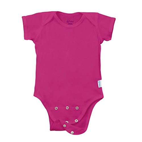 - i play. Baby Organic Adjustable Bodysuit, Fuchsia, 18mo