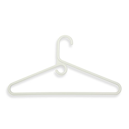 Honey-Can-Do HNG-01178 Super Heavyweight Hangers, 3-Pack, White, 86-Gram ()