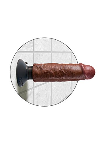 """Pipedream Products King Cock 6"""" Vibrating Cock, Brown"""