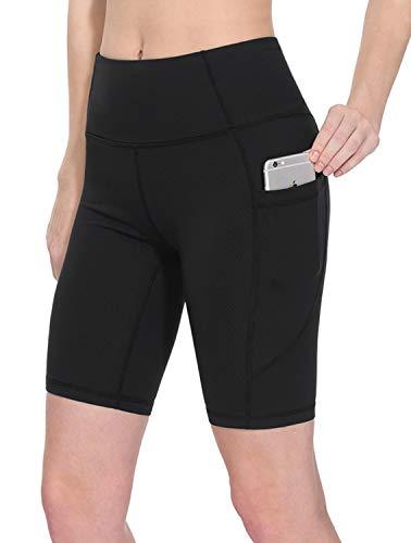 TAIBID Women's High Waist Workout Running Yoga Shorts Side Pockets Tummy Control Athletic Shorts, Size S - XXL