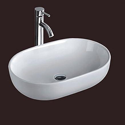 Lavabo da appoggio da 60x40 in ceramica bianco: Amazon.it: Fai da te