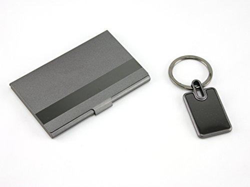 Skyway Sierra Business Name Card Holder Case Key Chain Gift Set - Engravable