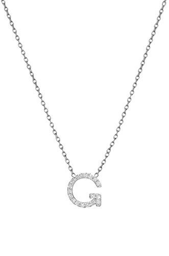 Diamond initial necklace by Zoe Lev Jewelry