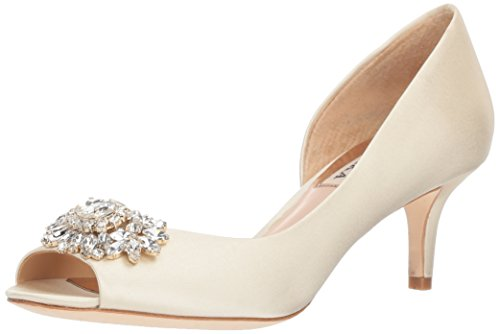 Badgley Mischka Women's Macie Pump, Ivory,8 W US by Badgley Mischka