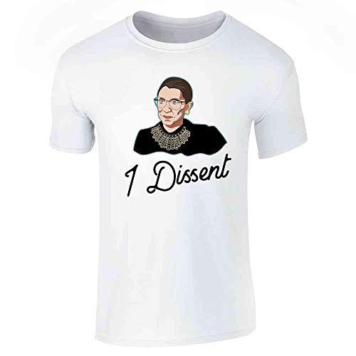 Pop Threads I Dissent RBG Shirt Liberal Justice Supreme Court White 2XL Short Sleeve T-Shirt]()