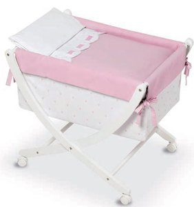 Bimbi Class–Baby, 68x 83x 76cm, weiß und rosa