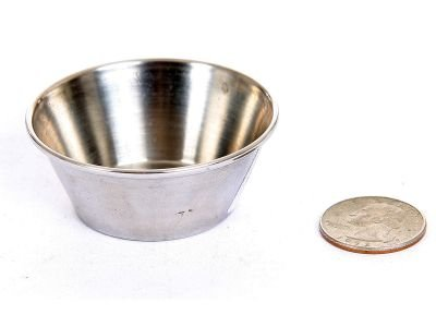 Stainless Steel 1.5 Oz Round Sauce Cup, Case of 864