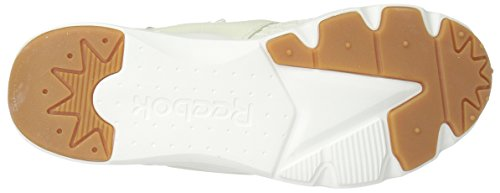 Reebok Womens Furylite Loom Fashion Sneaker Classic Bianco / Giallo Scintilla Blu / Gesso-gomma