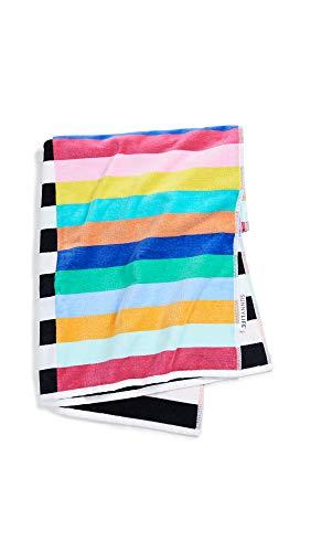 SunnyLife Women's Crocodile Rock Luxe Towel, Crocodile Rock, Stripe, One Size