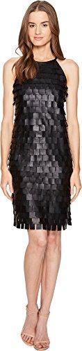 Escada Sport Women's Lafring Leather Petal Dress Black 40 (US 10) - Escada Leather