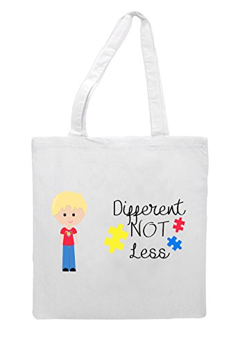 Autism Character Less Hair Tote B2 Awareness Bag With Boy Not Different White Blonde qwRIAaWEA