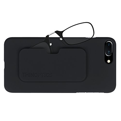 Thinoptics Reading Glasses   Iphone 8 Plus Or Iphone 7 Plus Case   Black Frames  2 00 Strength  Lifetime Guarantee