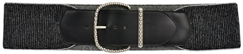 Silver Buckle Ranch (3D Belt Co. A970 Black/Silver Stretch Belt with Silver Buckle (small))