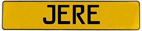 Wall Jere (Vintage Parts Jere Stamped Aluminum Street Sign Mancave Wall Art, Yellow)