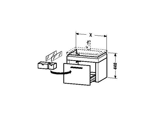 Duravit Waschtischunterschrank wandhängend 2nd floor 420x580x440mm 1 Auszug, für 049160, eiche anthr
